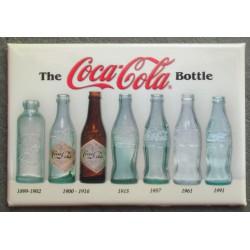magnet 8x5.5 cm coca cola differentes bouteilles évolution deco garage cuisine bar diner loft frigo