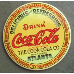 magnet 7.5 cm coca cola atlanta logo orange deco cuisine bar diner loft frigo
