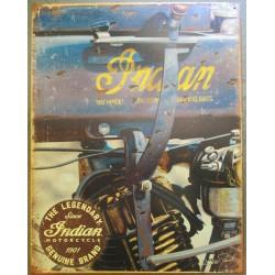 plaque moteur moto indian legendary 41x32 cm deco garage affiche metal