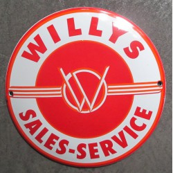 mini plaque emaillée willys jeep sales services 12cm tole email usa