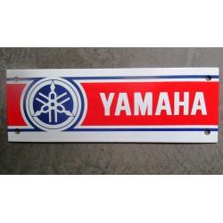 mini plaque emaillée  moto yamaha  deco garage atelier 20x7cm tole email usa