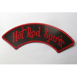 patch  hot rod spirit banderolle noir rouge pin up ecusson rockab