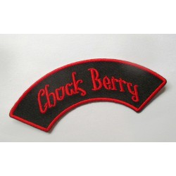 patch chuk berry banderolle noir rouge ecusson rockabilly fan rock roll