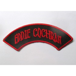patch eddie cochran banderolle noir rouge ecusson rockabilly fan rock roll