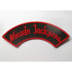 patch wanda jackson banderolle noir rouge ecusson rockabilly fan rock roll