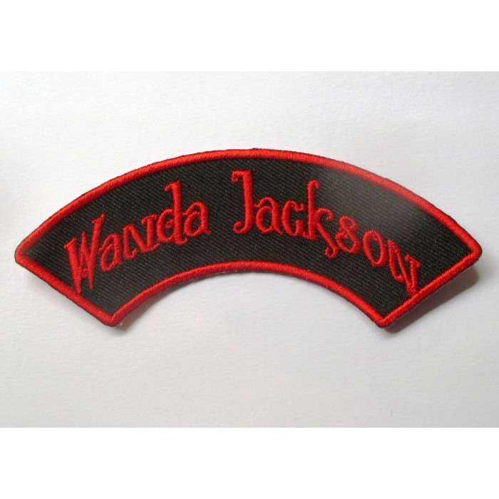 patch wanda jackson banderolle noir rouge ecusson rockabilly fan rock roll