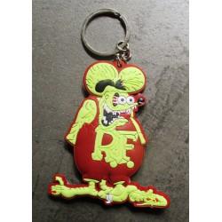 porte clé rat fink marron jaune  plastique souple kustom usa