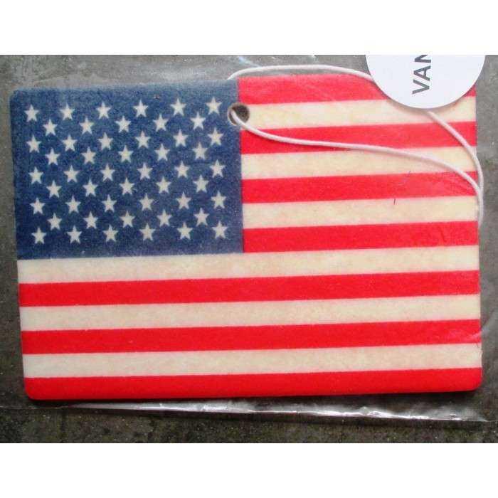 désodorisant drapeau americain usa senteur vanille deco voiture