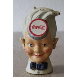 tirelire coca cola en fonte sprite boy look année 50