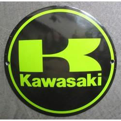 mini plaque emaillée moto kawasaki sportive 12cm tole email usa