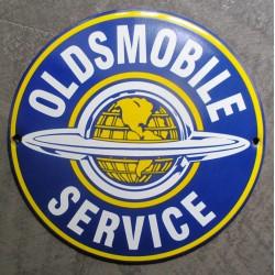 mini plaque emaillée oldsmobile service bleu 12cm tole email usa
