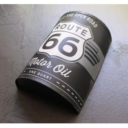 1/2 bidon d' huile route 66 motor oil tole pub garage