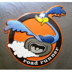 plaque beep beep road runner  en relief deco metal tole rare