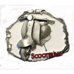 boucle de ceinture scooter fond blanc vespa lambretta officielangleterre homme femme mixte