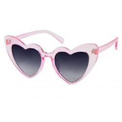 lunette de soleil femme forme coeur rose pale verre fumé noirpin up rockabilly
