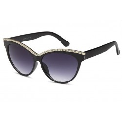 lunette de soleil femme avec une rangée de stassr pin up rockabilly
