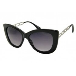 lunette de soleil femme  gros cat eyes noir branche metal pin up rockabilly