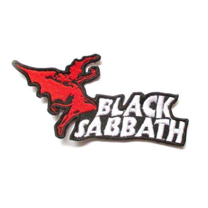 patch groupe black sabbath 10.5x5cm ecusson groupe hard rock