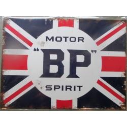 plaque BP motor spirit oil huile tole pub deco garage 40x30cm