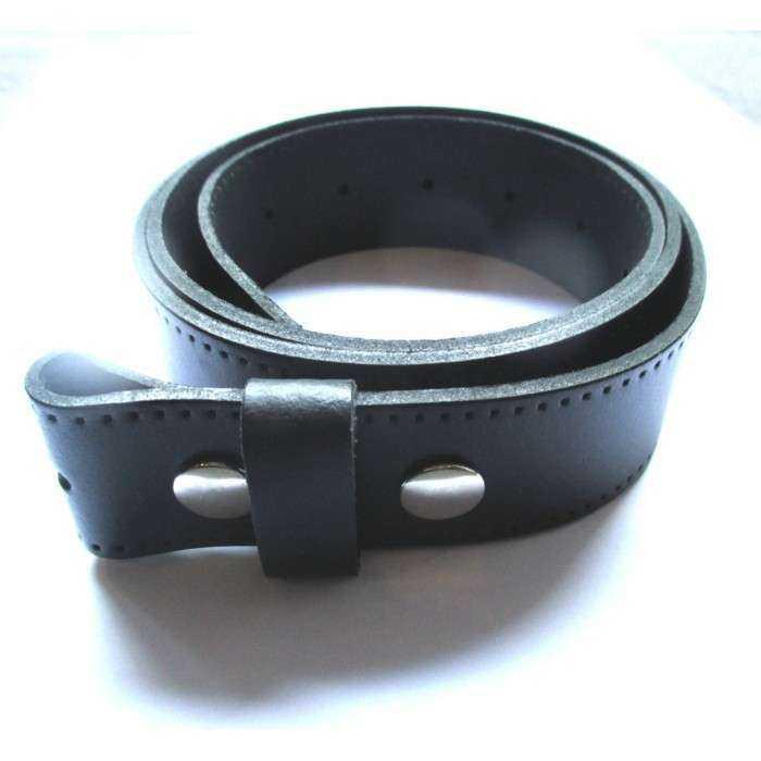 0e3ff0c3c65 L 115cm ceinture en cuir noir avec 2 pressions homme femme pleine fleur