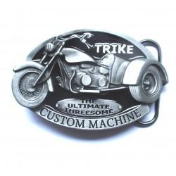 boucle de ceinture trike noir moto à 3 roues  homme femme