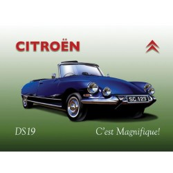 plaque ds cabriolet citroen 40x30cm pub metal tole salon
