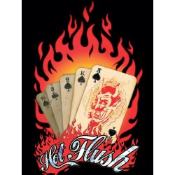 plaque royal flush carte devil diable 40x30cm pub metal tole rock roll