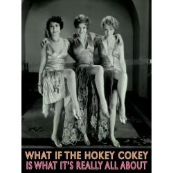 plaque 3 femmes dans les annee 30 tole  40x30cm pub metal affiche