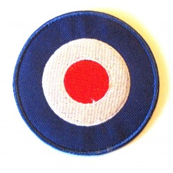 patch cible logo vespa 6cm mod cible bleu ecusson rock roll