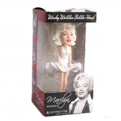 figurine marily monroe en robe blanche bobble head tete qui bouge
