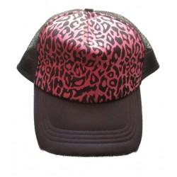 casquette noir et léopard...