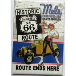 magnet 8x5.5 cm mels drive in hot rod pin up serveuse deco garage cuisine bar diner loft frigo