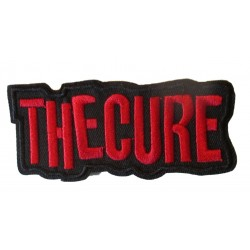 patch groupe new wave the cure noir rouge 10x4.5cm ecusson thermocollant