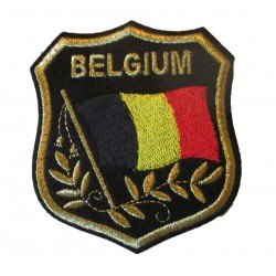 patch blason belgique ecusson thermocolant belge biker