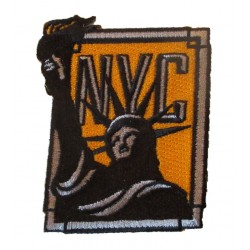 patch statue liberté NYC jaune 7.5cm ecusson thermocolant