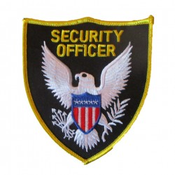 patch logo security officier usa 11x9.5 cm ecusson thermocolant