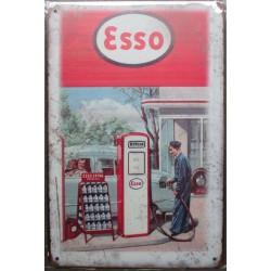 plaque esso ancienne station service garage 30cm tole publicitaire metal pub