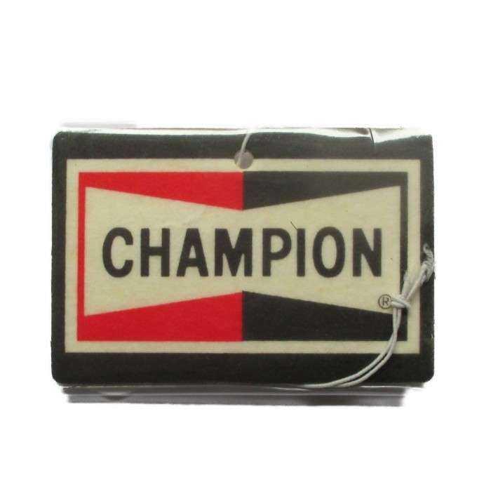 désodorisant logo champion bougie senteur vanille deco voiture