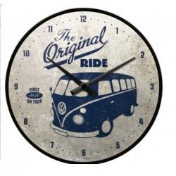 pendule metal ronde combi original ride volkswagen horloge