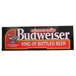 plaque tole budweiser king of beer 61x20.5 cm tole pub biere usa