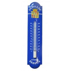 thermometre en email cadillac bleu 30cm deco garage tole emaillée