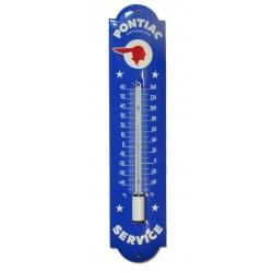 thermometre en email pontiac service bleu 30cm deco garage tole emaillée