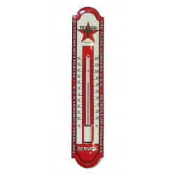 thermometre en email texaco service rouge blanc 30cm deco garage tole emaillée