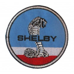 patch mustang shelby bleu blanc rouge ecusson thermocollant garage