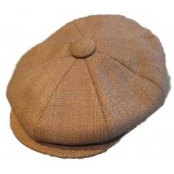 casquette vintage marron  clair taille 57 cm homme femme enfant rockabilly pin up