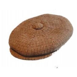 casquette vintage marron rayé marron et gris taille 54 cm homme femme enfant rockabilly pin up