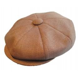 casquette vintage marron clair marron  moyen  taille 56 cm homme femme enfant rockabilly pin up