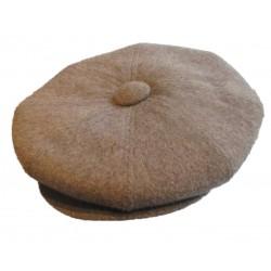 casquette vintage  gris beige  laine mélangé taille 54 cm homme femme enfant rockabilly pin up