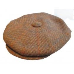 casquette vintage marron moyen aine mélangé taille 54 cm homme femme enfant rockabilly pin up