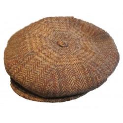 casquette vintage beige marron foncé 100% laine  taille 54 cm homme femme enfant rockabilly pin up